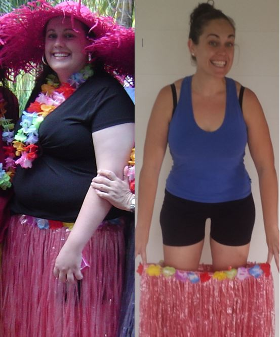 Before & After Hula Skirt